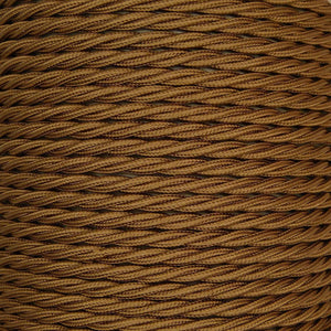 01041 Triple Twisted Braided Flex 3 core 0.75mm Bronze, mtr - Lampfix - Sparks Warehouse
