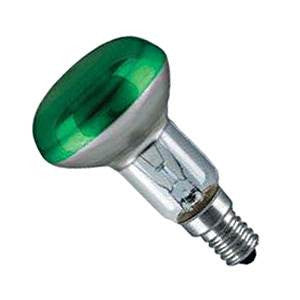 R5040SES-G-GE - 240v 40w E14 Green 50mm 2pk Blister