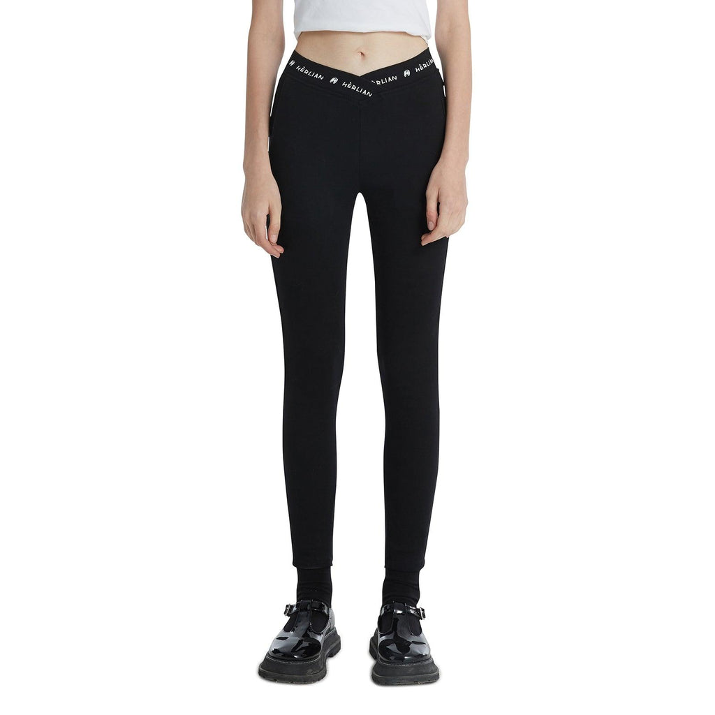 Herlian Le Papillon Logo Leggings Black - Mores Studio