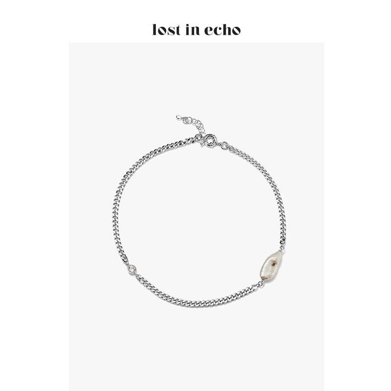 Lost In Echo FW20 Lanka Pearl Necklace Sliver - Mores Studio