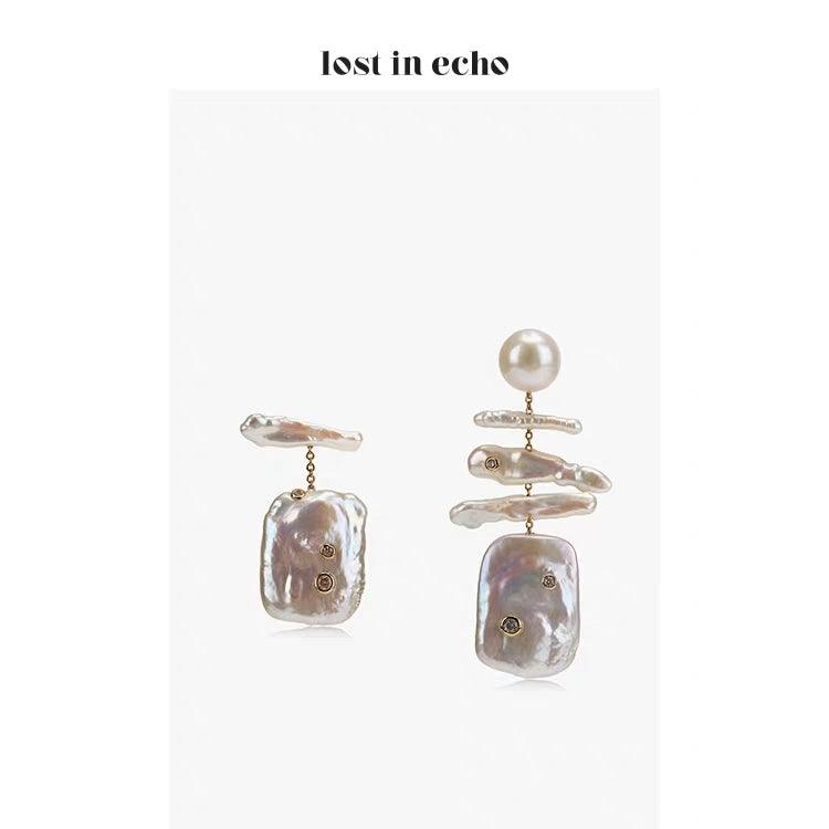 Lost In Echo SS20 Mazzy Pearl Earring - Mores Studio