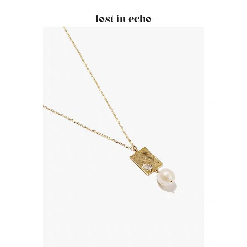 Lost In Echo SS20 Neri Pearl Necklace - Mores Studio