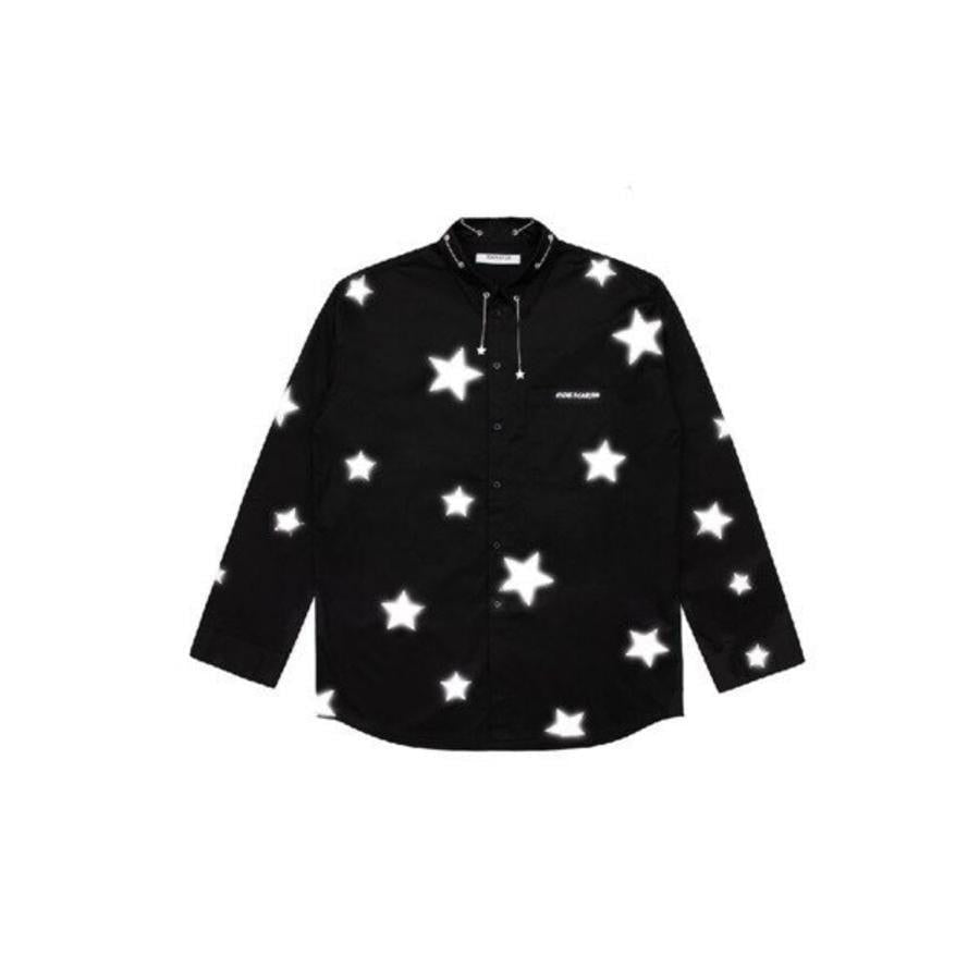 13 De Marzo 3M Reflective Star Chains Shirt Black - Mores Studio