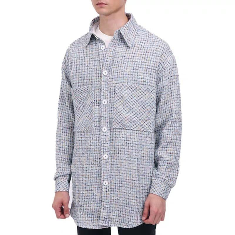CHARLIE LUCIANO Tweed Overshirt Rainbow - Mores Studio