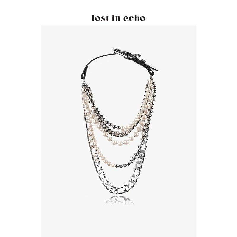 Lost In Echo FW20 OTA Pearl Necklace Chocker - Mores Studio