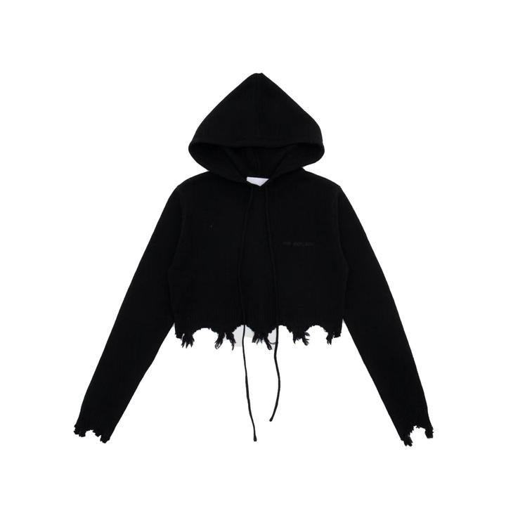 Ann Andelman Destroyed Hoodie Black - Mores Studio