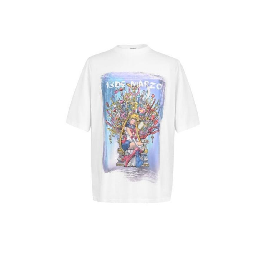 13 De Marzo GOT Sailor Moon Tee White - Mores Studio