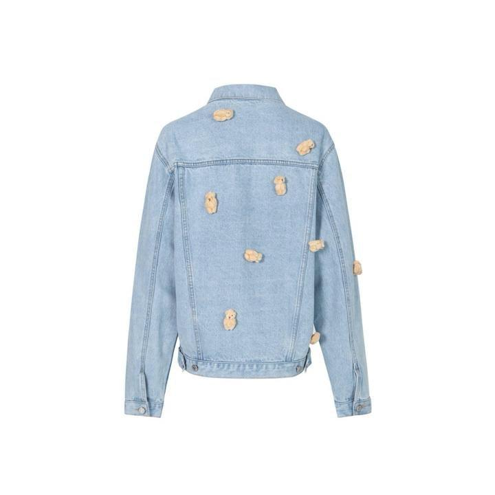 13 De Marzo Mini Teddy Bear Denim Jacket Blue - Mores Studio
