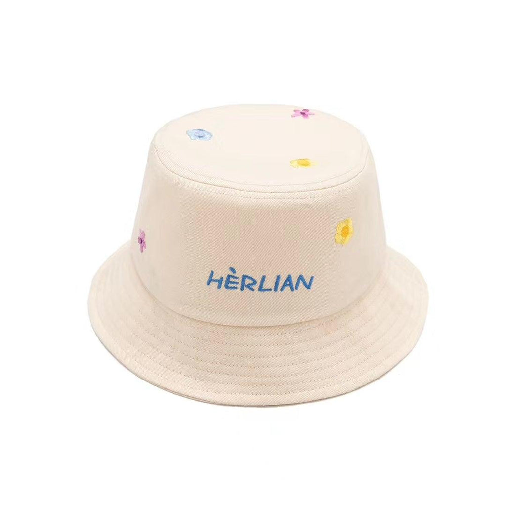 Herlian SS20 Embroidery Flower Bucket Hat White - Mores Studio