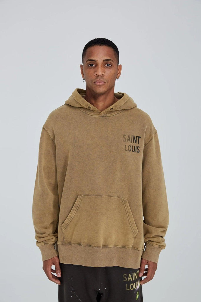 Saint Louis Vintage Object Dyded Hoodie Tan - Mores Studio