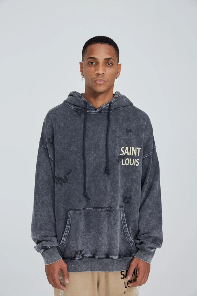Saint Louis Vintage Object Dyded Hoodie - Mores Studio