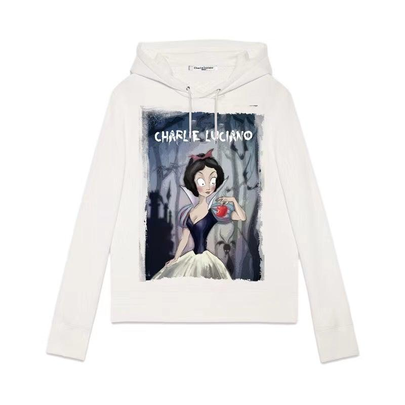 Charlie Luciano 'Snow White' Hoodie White - Mores Studio