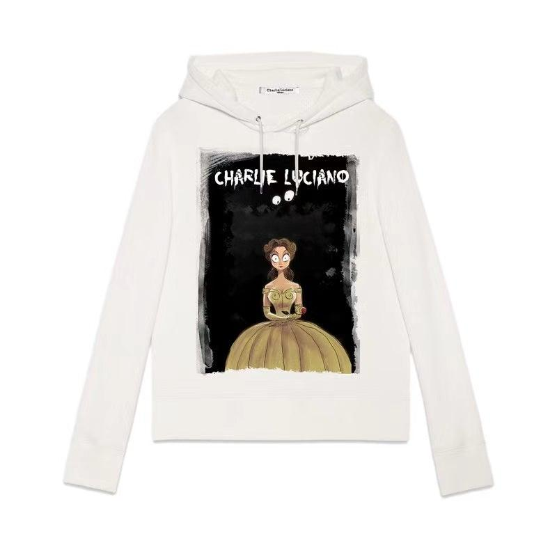 Charlie Luciano 'Belle' Hoodie White - Mores Studio