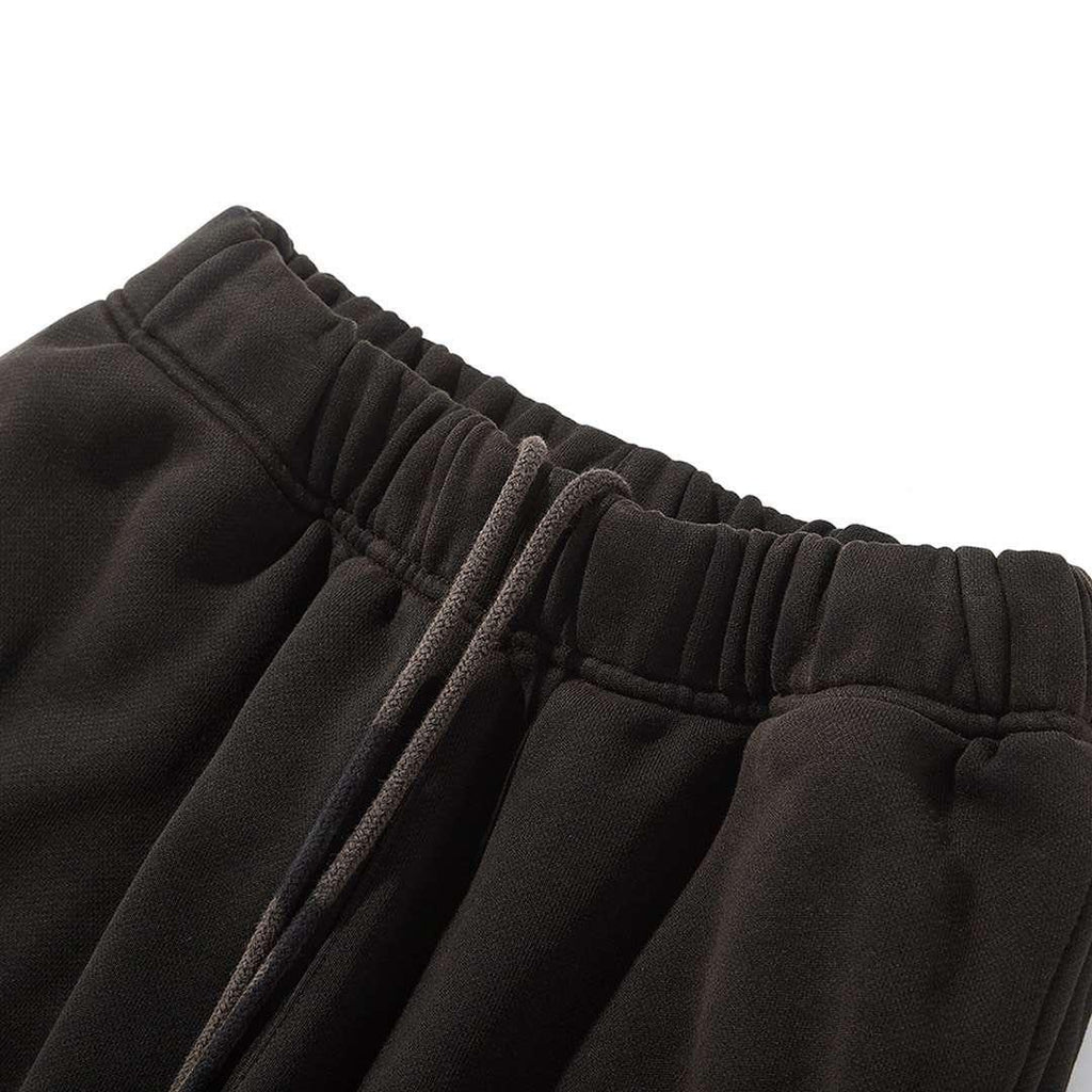 Ain't Shy Flare Sweat Pants Black - Mores Studio