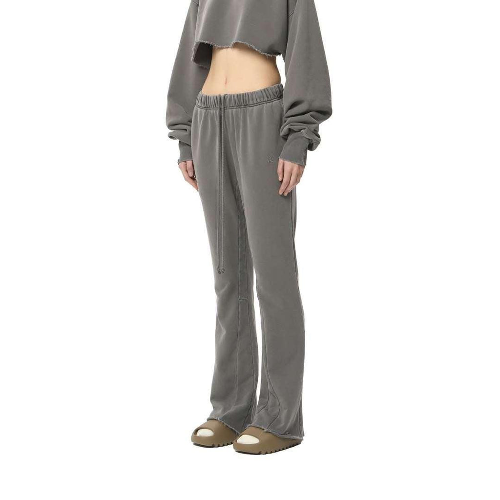 Ain't Shy Flare Sweat Pants Grey - Mores Studio