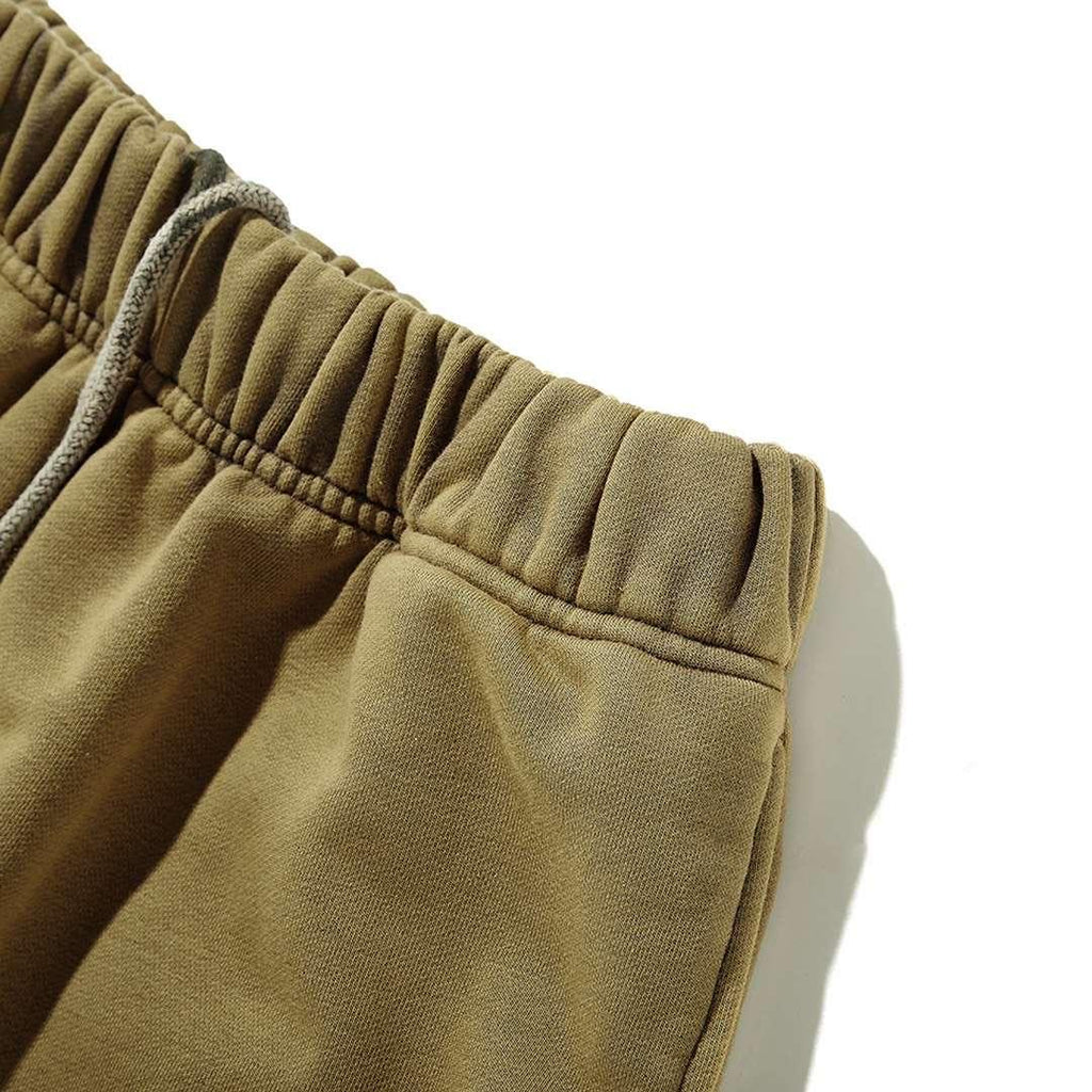 Ain't Shy Flare Sweat Pants Olive - Mores Studio