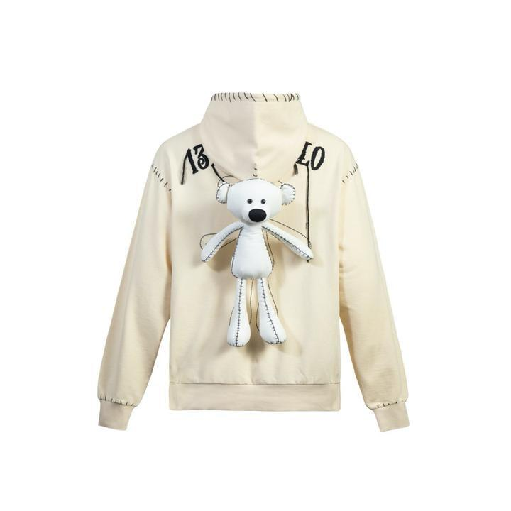 13 De Marzo Teddy Bear Suture Hoodie Cream - Mores Studio