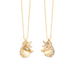 """Partners in Magic"" Mystical Unicorn Necklace Pair, Best Friends, Mommy & Me"