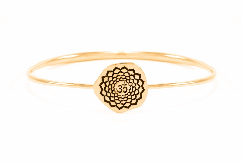 CROWN CHAKRA Sahasrara Bangle, Rose Gold Vermeil *Online Only