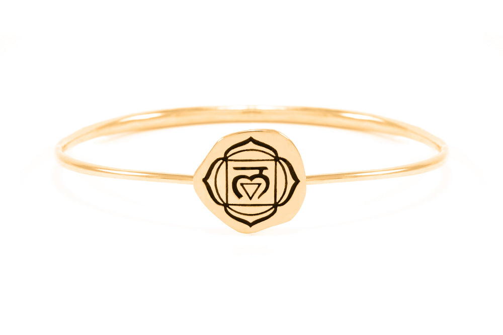 ROOT CHAKRA Muladhara Bangle, 18K Gold Vermeil *Online only