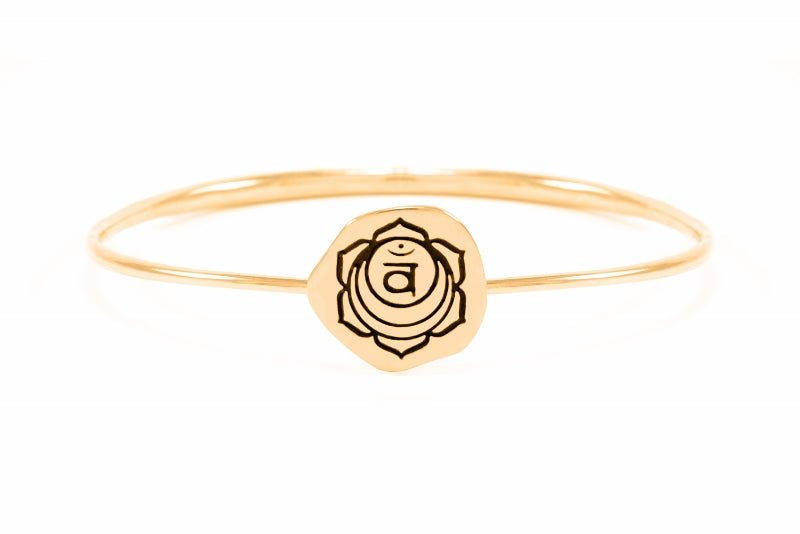 SACRAL CHAKRA Svadisthana Bangle, Rose Gold Vermeil *Online Only