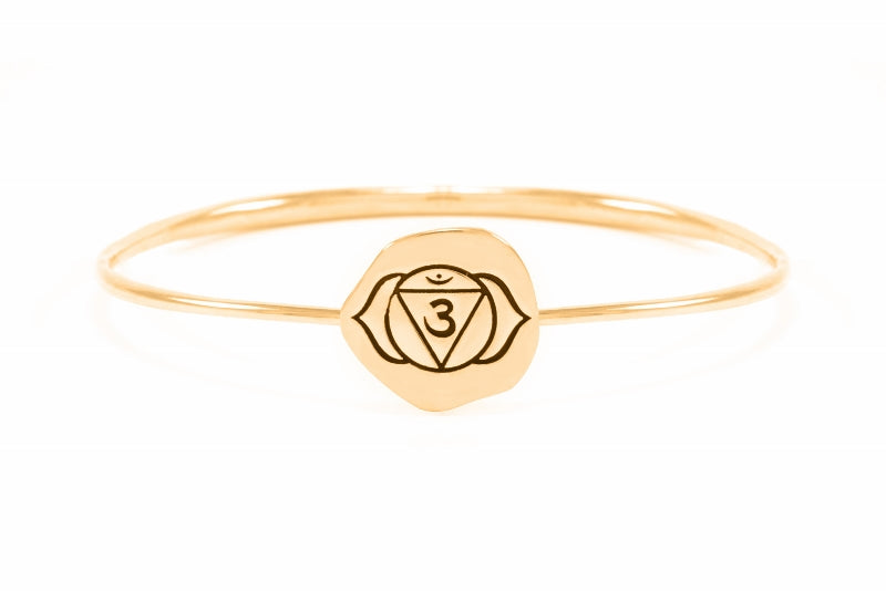 BROW CHAKRA Ajna Bangle, 18K Gold Vermeil
