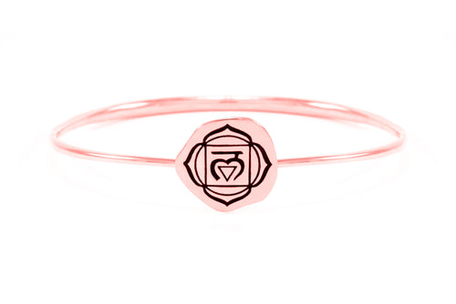 ROOT CHAKRA Muladhara Bangle, Rose Gold Vermeil