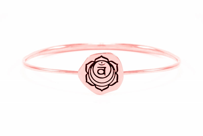 SACRAL CHAKRA Svadisthana Bangle, Sterling Silver *Online Only