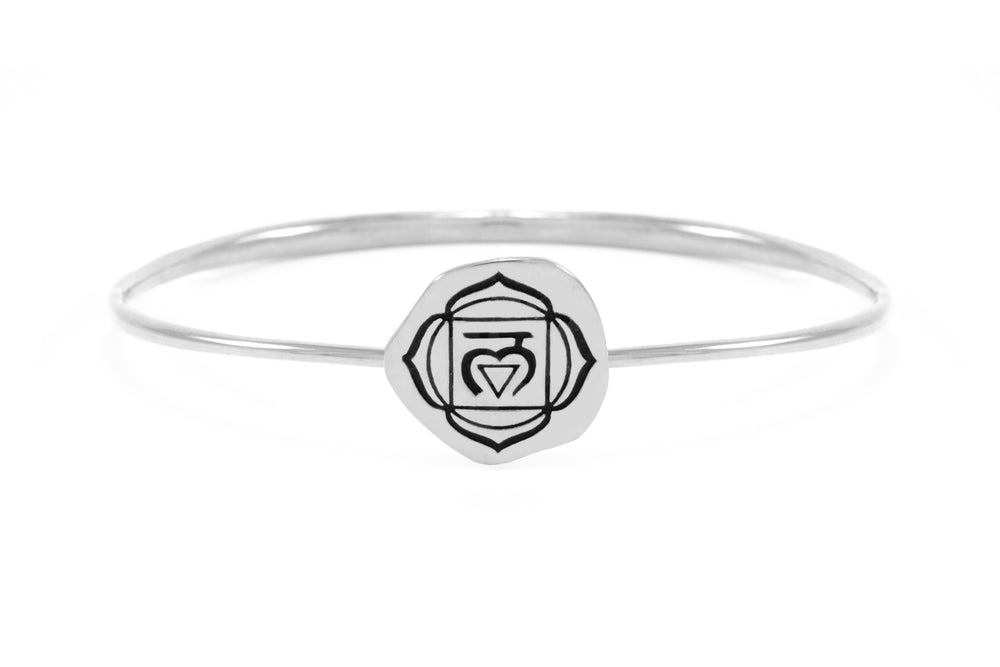 ROOT CHAKRA Muladhara Bangle, Sterling Silver *Online Only