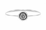 THROAT CHAKRA Bangle, White Rhodium *Online only
