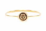 THROAT CHAKRA Bangle, 18K Gold Vermeil *Online only