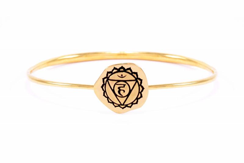 THROAT CHAKRA Bangle, Rose Gold Vermeil *Online Only