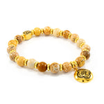 ROOT Chakra Activation Bracelet, Picture Jasper, 18K gold