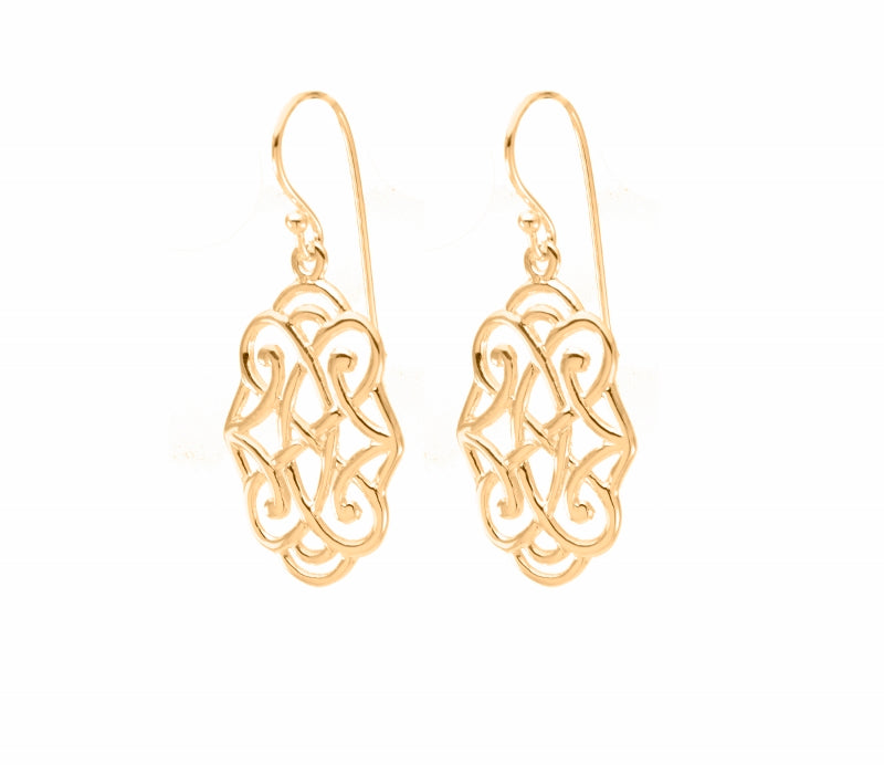 Infinite Love Drop Earrings 18K Gold Vermeil