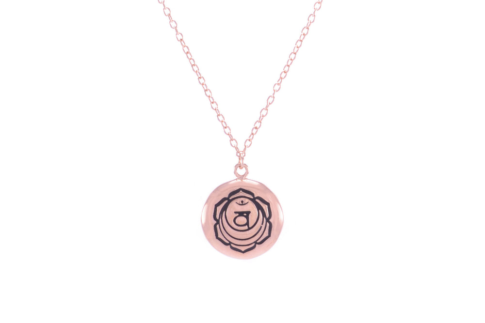 SACRAL CHAKRA Svadisthana Necklace Rose Gold