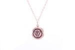 THROAT CHAKRA Visuddha Necklace Rose Gold