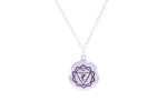 SOLAR PLEXUS CHAKRA Manipura Necklace White Rhodium/Sterling Silver