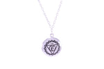 THROAT CHAKRA Visuddha Necklace White Rhodium/Sterling Silver