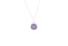 CROWN CHAKRA Sahasrara Necklace White Rhodium/Sterling Silver