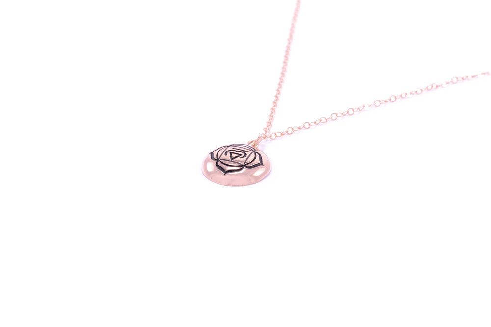 ROOT CHAKRA Muladhara Rose Gold Necklace