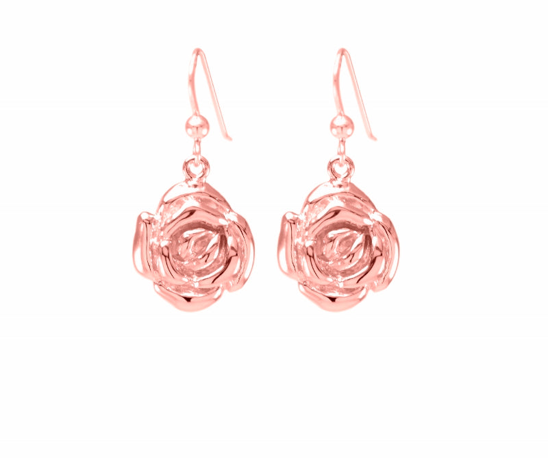 Mystic Rose Earrings, Rose Gold Vermeil
