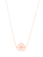 """Compassionate Rose"" Geometric Sliding Choker with Rose Quartz, Rose Gold Vermeil"