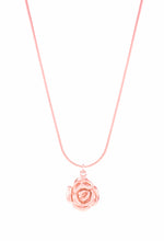 Mystic Rose Adjustable Slider Necklace, Long or Choker, Rose Gold Vermeil