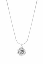 Mystic Rose Adjustable Slider Necklace, Long or Choker, White Rhodium
