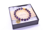 Crown Chakra Activation Bracelet Amethyst, 18K Gold