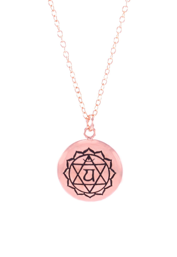 HEART CHAKRA Anahata Necklace Rose Gold