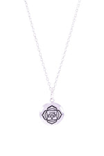 ROOT CHAKRA Necklace White Rhodium Finished Sterling Silver