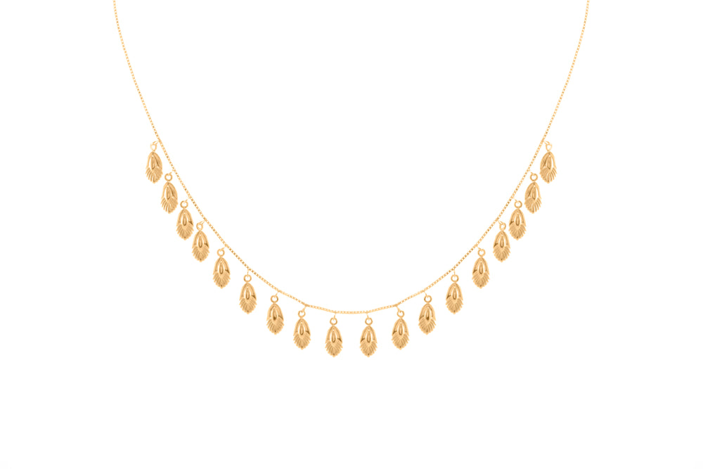 Freedom Goddess Slider Necklace, 18k Gold Vermeil