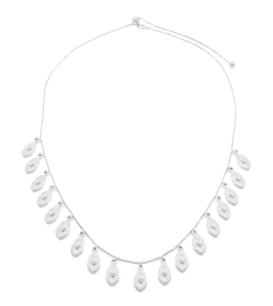 Freedom Goddess Slider Necklace, White Rhodium