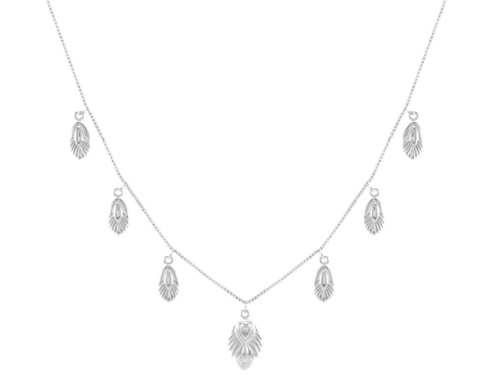Artemis Slider Necklace, White Rhodium